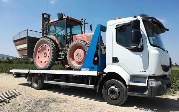 MURPATRANS Empresa de transporte de tractores y transporte de maquinaria agrícola en Murcia y Alicante