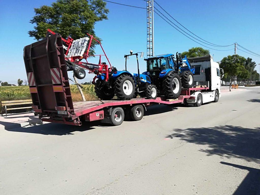 Transporte de maquinaria agrícola - Transporte de tractores - MURPATRANS